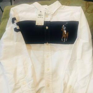 BWT Boys Ralph Lauren long sleeve Polo shirt 10/12
